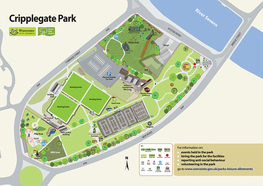Site Map of Cripplegate Park