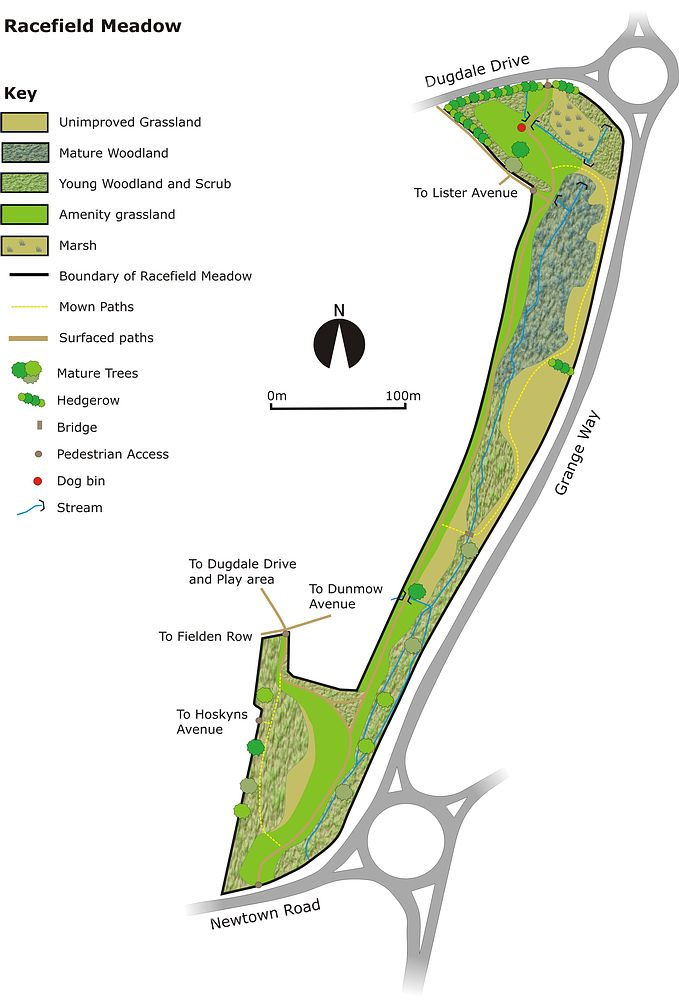 Racefield Meadow Site Map