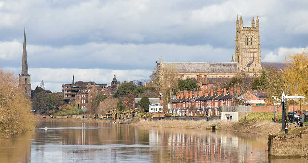 Riverside with Worcester Cathedral