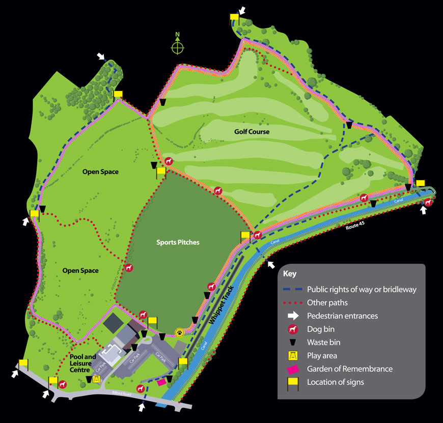 Perdiswell Access Map