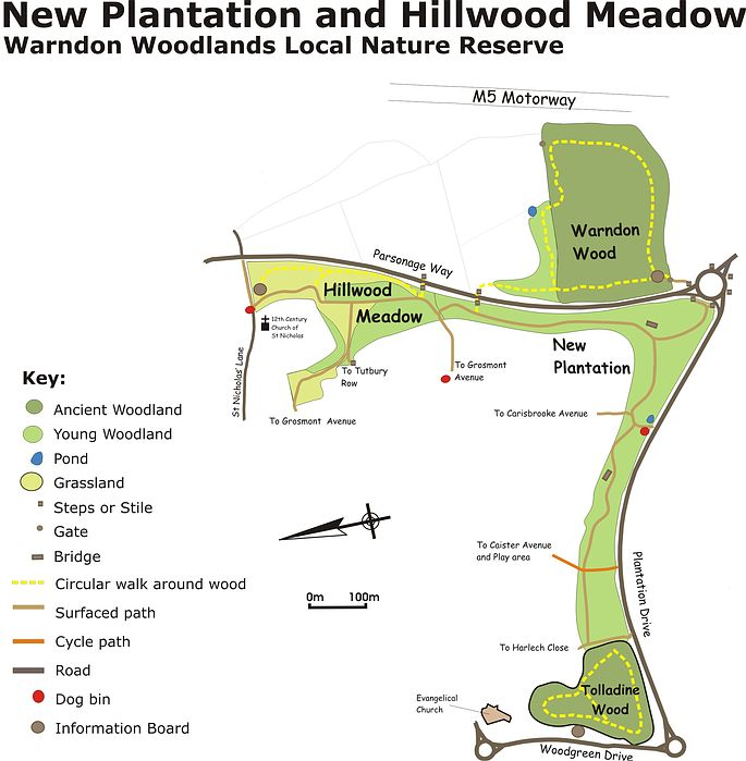 Map of New Plantation and Hillwood Meadow