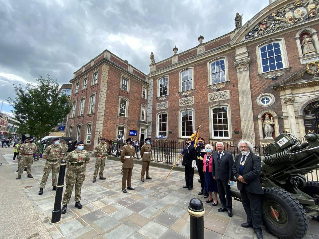 Deputy-Mayor-Cllr-Adrian-Gregson-R-David-and-Jean-Waldron-British-Legion-Major-General-Mark-Armstrong