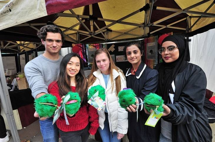 Worcester Sixth Form College Team Athena - overall winners with their soft toy product