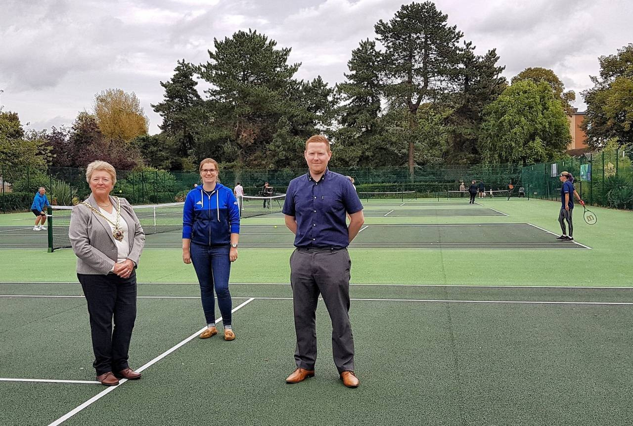 The Mayor of Worcester opens the new Cripplegate Park tennis courts