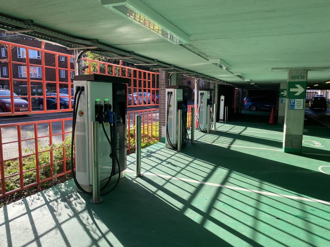 Elecric-car-charging-points-in-St-Martins-Gate-car-park