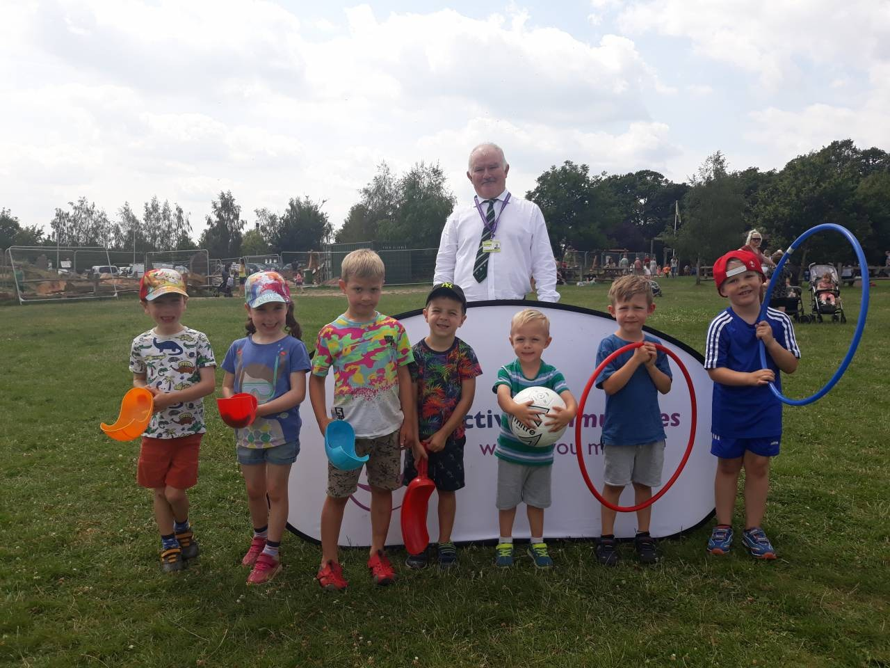 Councillor James Stanley joins children for a free multi-sports session