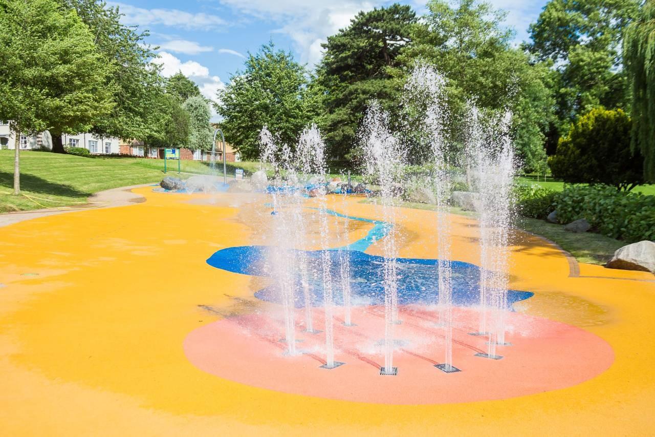 Splashpad in Gheluvelt Park